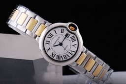 Fake Cool Cartier Ballon Bleu de Cartier Quartz Two Tone Strap A