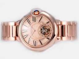 Fake Cool Cartier Ballon Bleu de Cartier Tourbillon manuelt optr